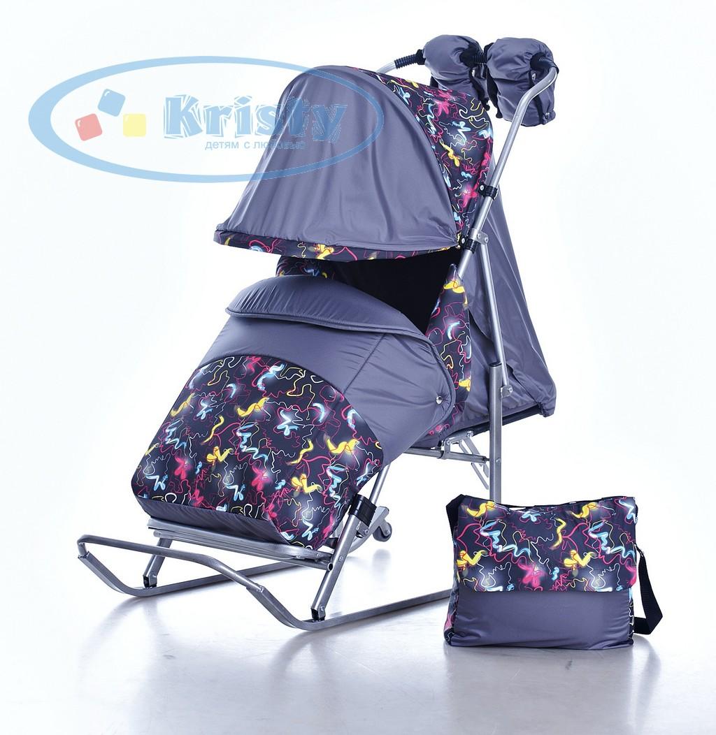 Санки коляска kristy luxe premium 22 фотография